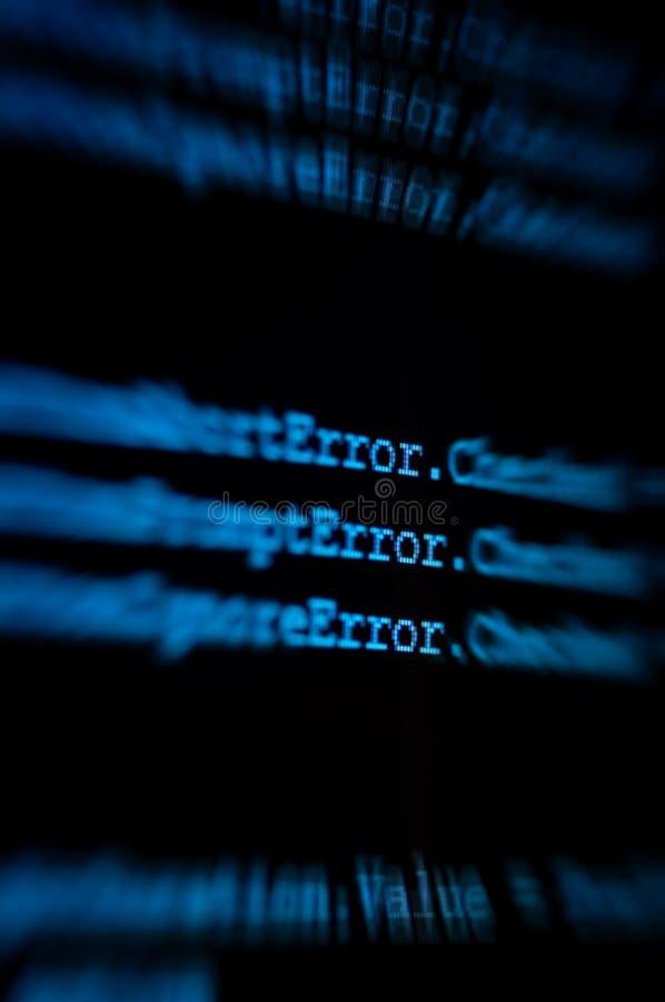 Moniteur d'ordinateur changeant de plan dedans sur l'erreur photo libre de droits