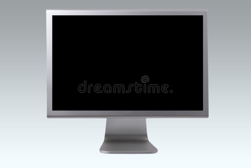 Moniteur d'ordinateur d'écran plat images libres de droits