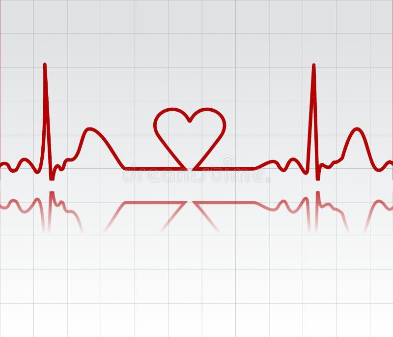 Moniteur de coeur illustration libre de droits