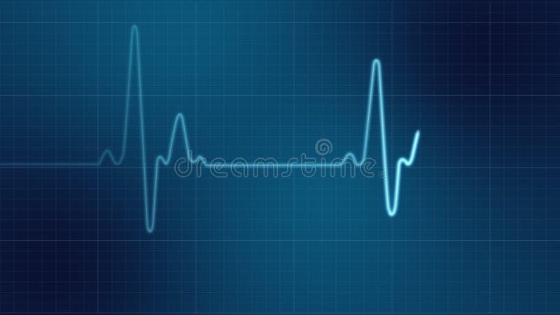 Moniteur de coeur d'EKG illustration stock