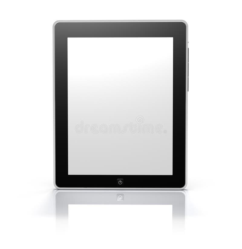 Moniteur de tablette d'écran tactile (chemin de découpage) illustration de vecteur