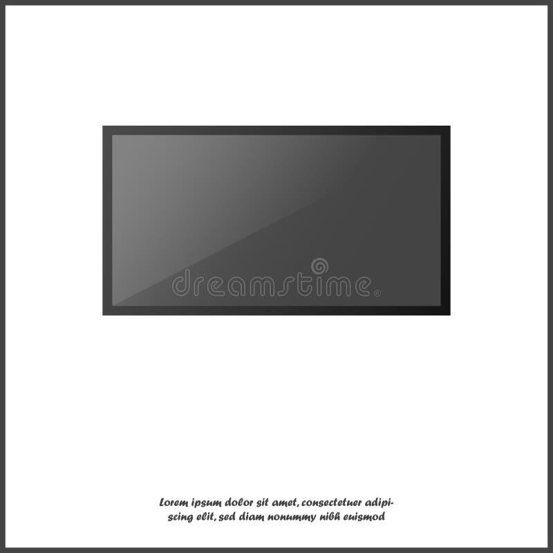 Moniteur réaliste d'ordinateur, TV lsd Diverse illustration électronique moderne d'instrument sur le fond d'isolement blanc Couch illustration stock