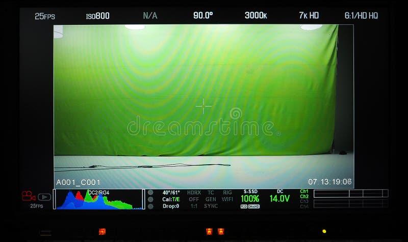 Moniteur visuel d'enregistrement de production photographie stock libre de droits