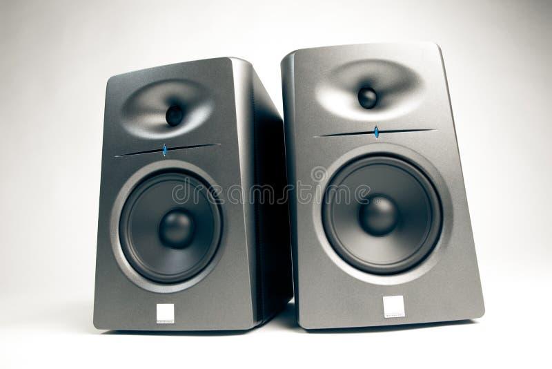 Moniteurs d'acoustique de studio photo stock