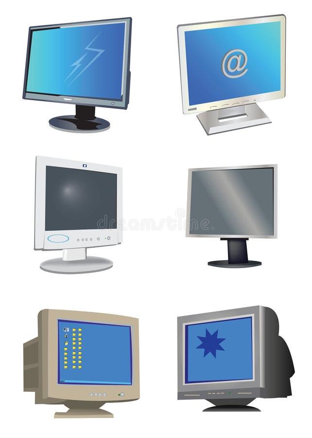 moniteurs d'ordinateur illustration libre de droits