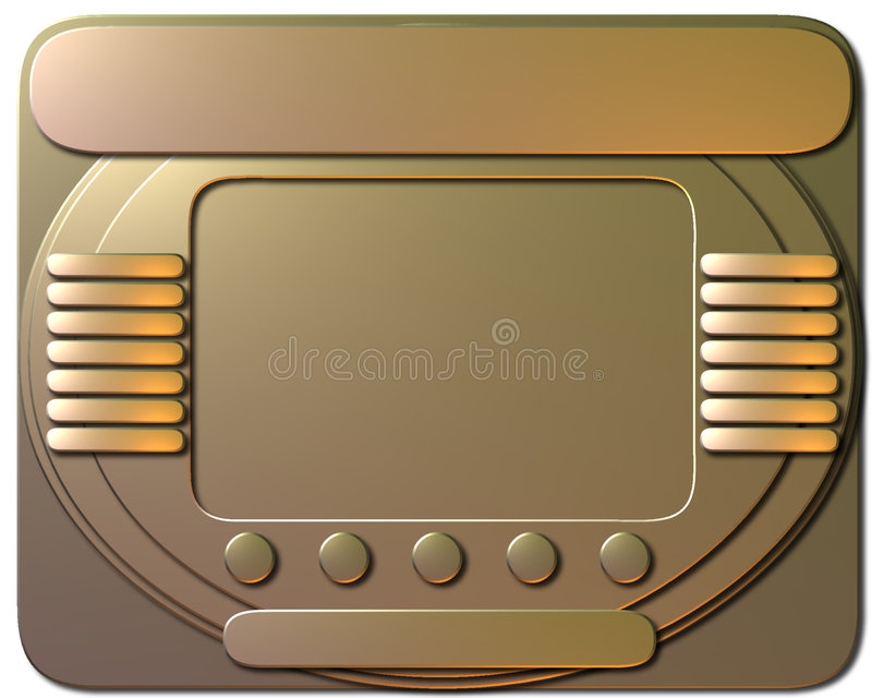 Download Monitor stock illustration. Image of rectangle, unique, square - 22390