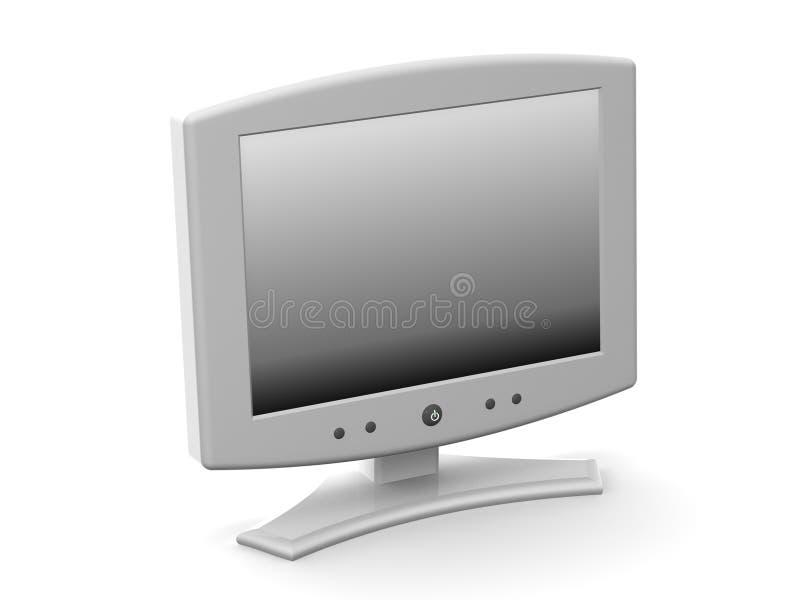 monitor royalty ilustracja