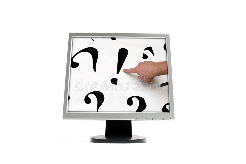 Download Monitor stock image. Image of marks, idea, sign, exclamation - 2435349
