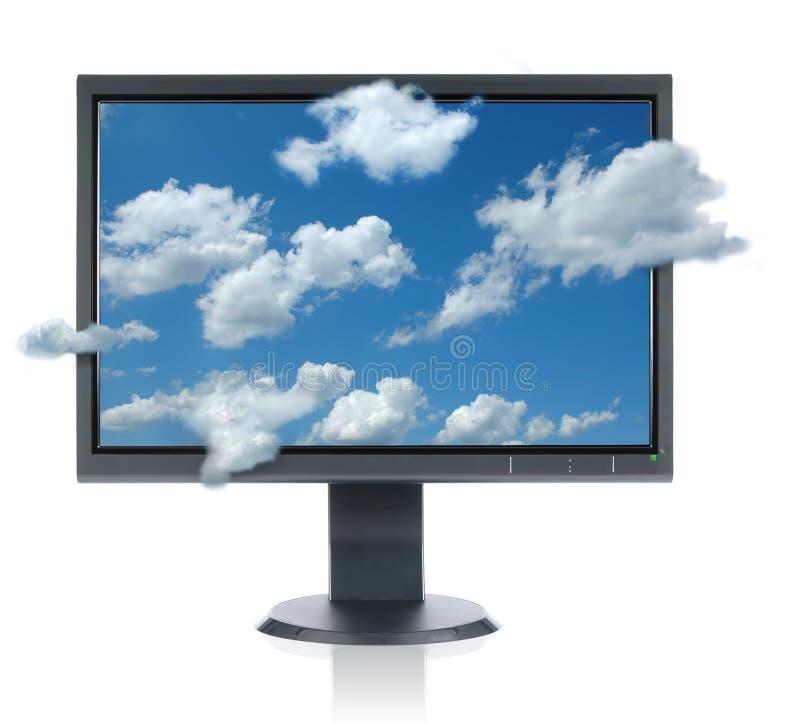 Monitor fotografía de archivo libre de regalías