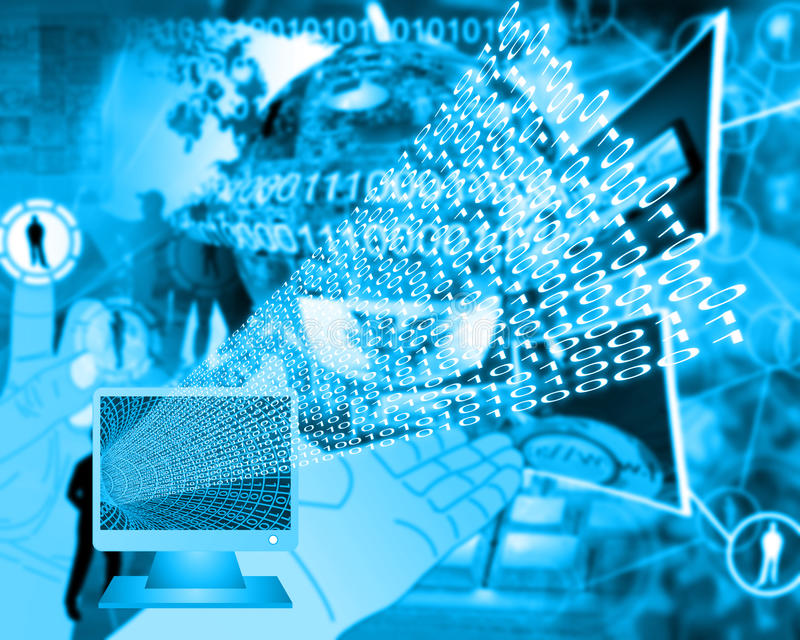 Download Monitor and binary code stock photo. Image of information - 38188946