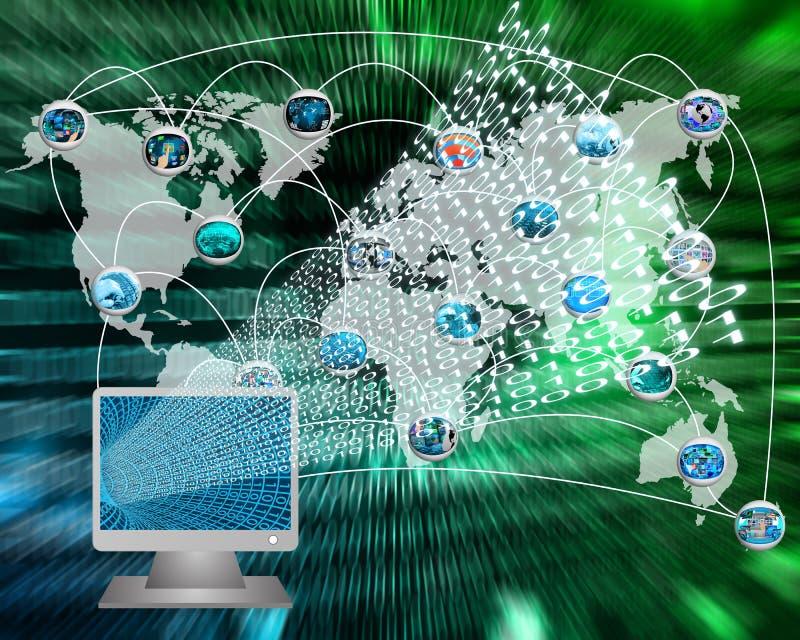 Download Monitor And Binary Code Royalty Free Stock Photos - Image: 38189718