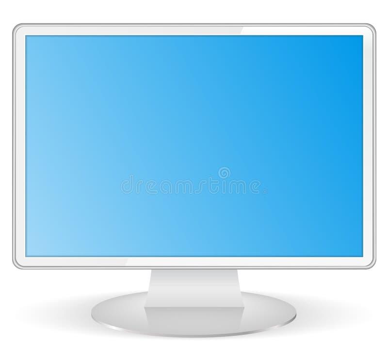Monitor blanco del ordenador libre illustration