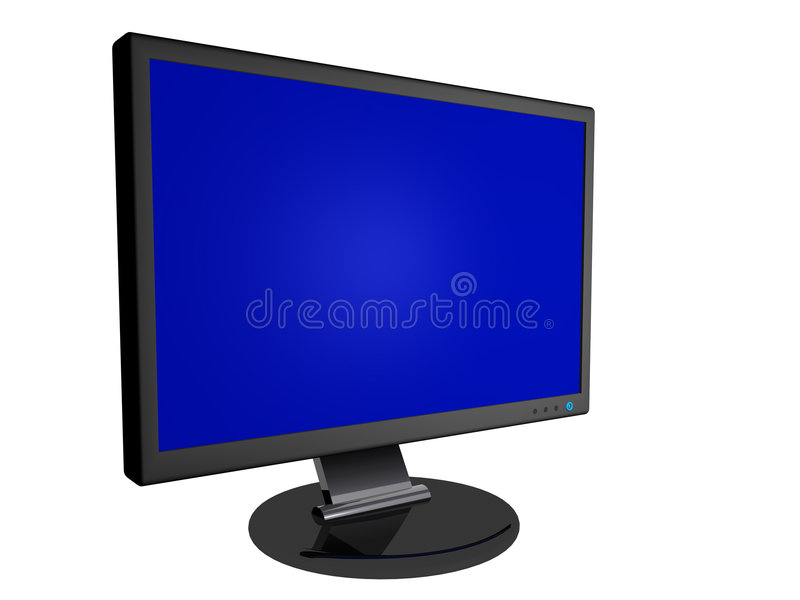 Download Monitor with Blank Screen stock illustration. Illustration of definition - 6472183