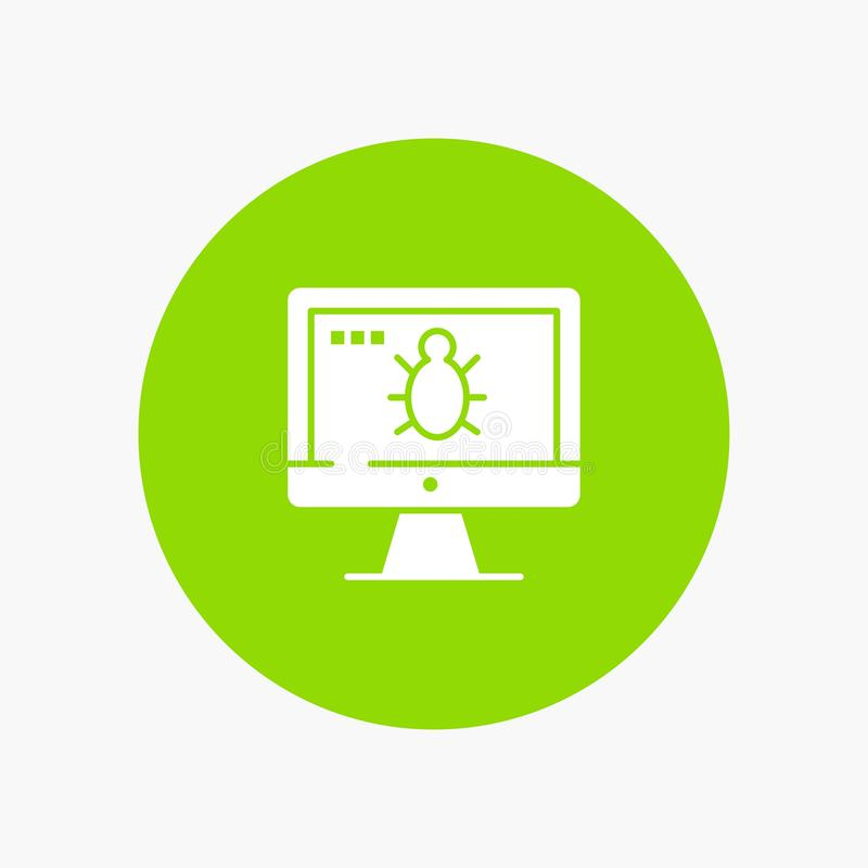 Monitor, Bug, Screen, Security royalty free illustration