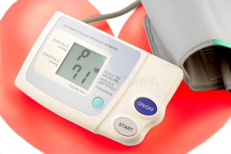 monitor ciśnienie krwi obraz stock