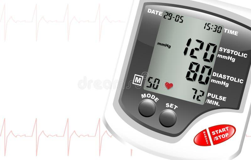 Monitor da pressão sanguínea ilustração royalty free