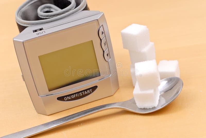 Monitor da pressão sanguínea fotografia de stock royalty free