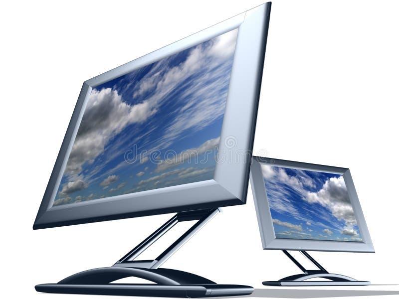 Monitor da tevê ilustração do vetor