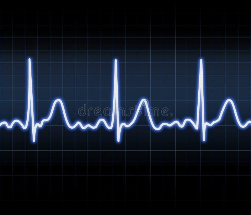 Monitor de coração ilustração royalty free