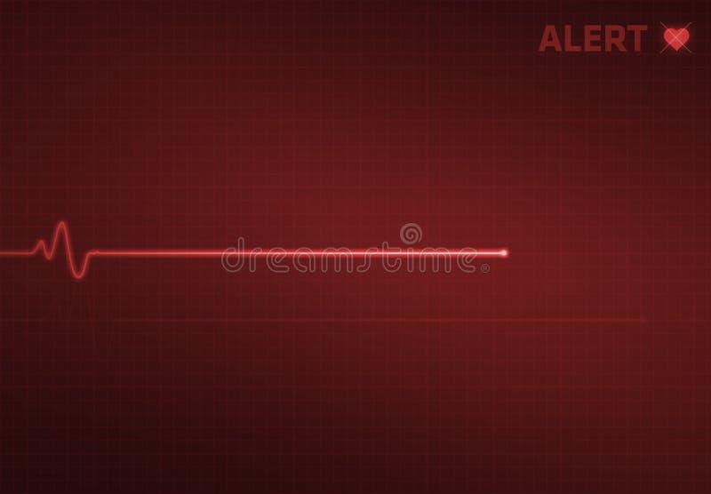 Monitor de coração de Flatline - alerta imagens de stock royalty free
