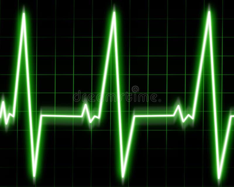 Monitor de corazón ilustración del vector
