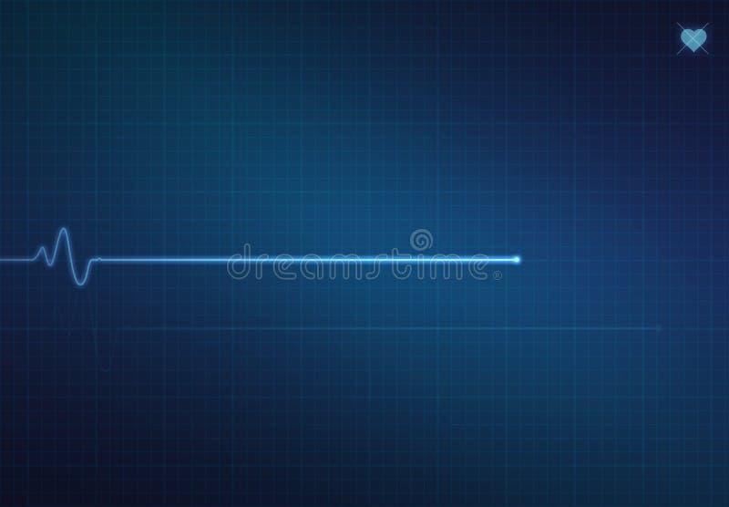 Monitor de corazón de Flatline imagen de archivo libre de regalías