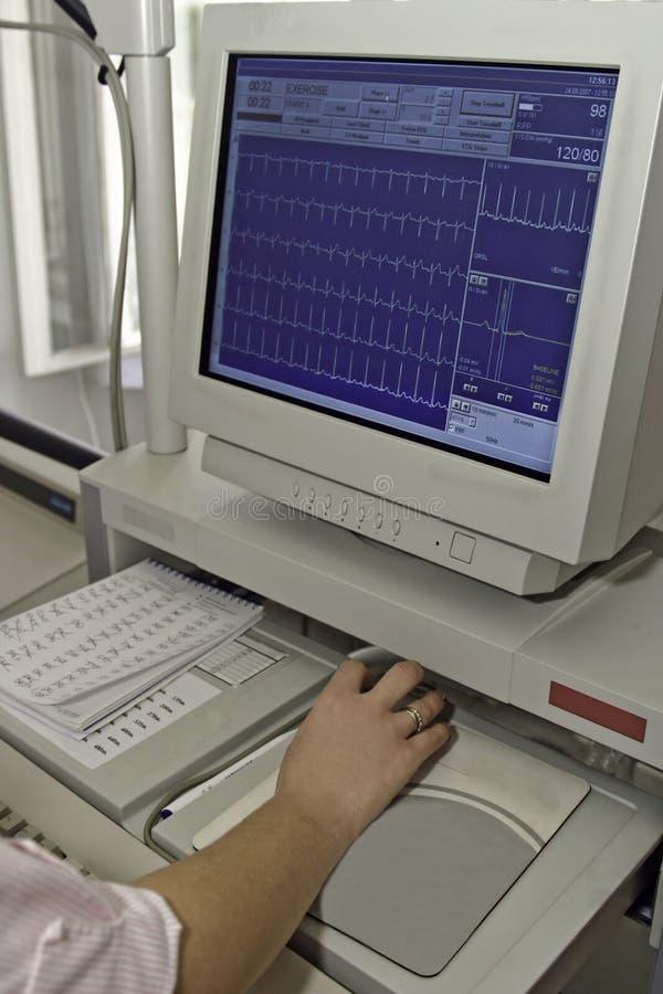 Monitor de EKG fotos de stock royalty free