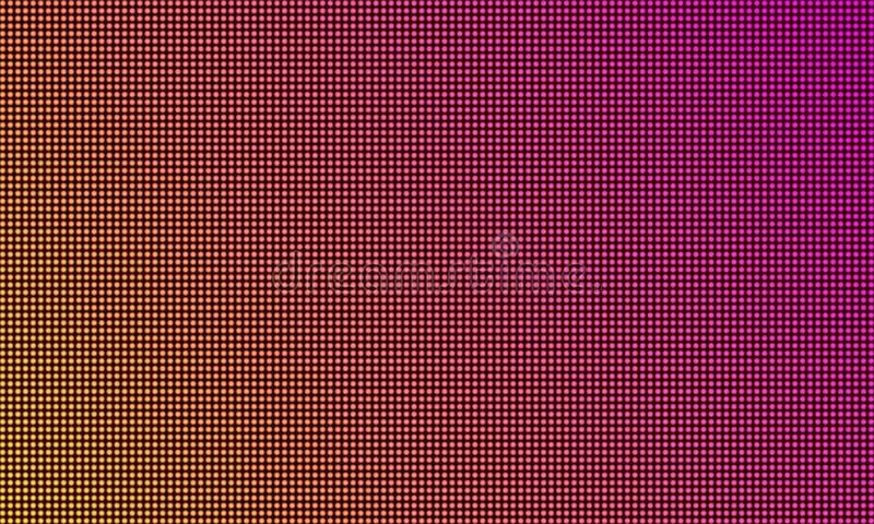 Monitor de la pantalla del LED TV, fondo digital de la textura de la luz del diodo La pared video del vector llevó la exhibición  stock de ilustración