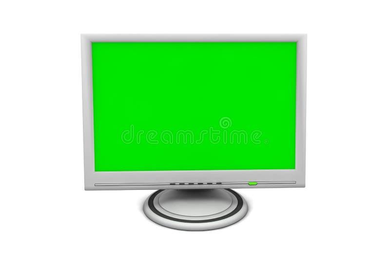 Monitor de la pantalla plana del LCD stock de ilustración