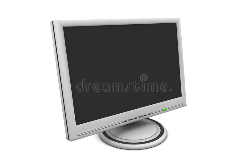 Monitor de la pantalla plana del LCD ilustración del vector