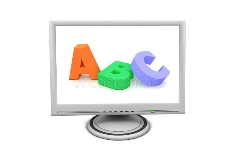 Monitor de la pantalla plana del LCD - ABC de la educación libre illustration