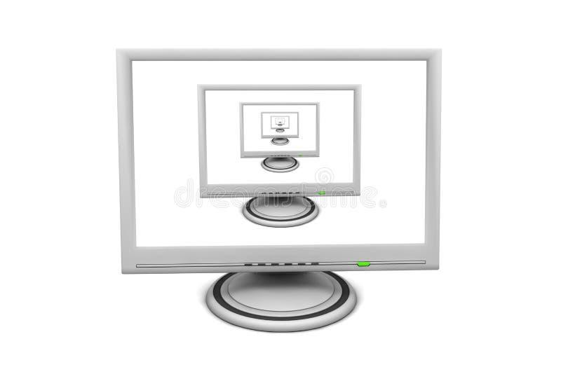 Monitor de la pantalla plana del LCD - pipa recurrente múltiple fotos de archivo