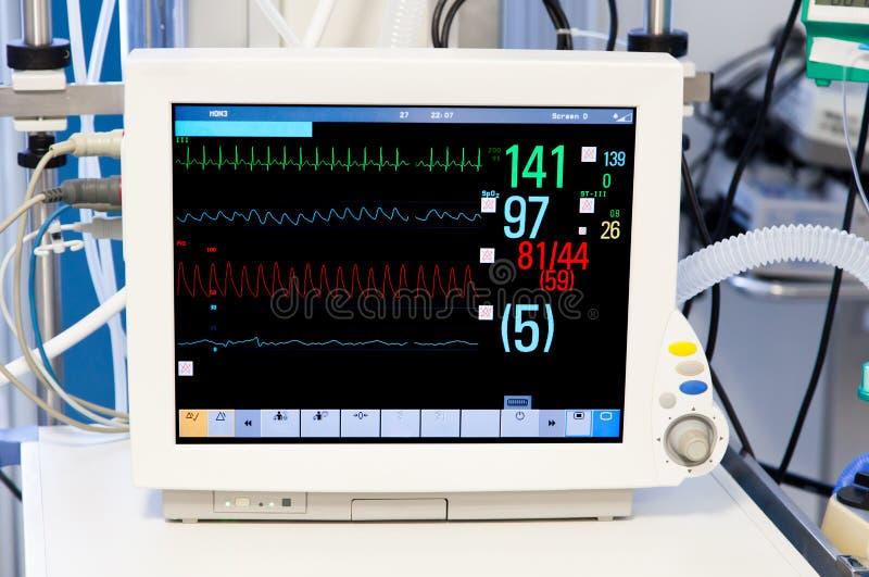 Monitor de pacientes na unidade de cuidados intensivos foto de stock royalty free
