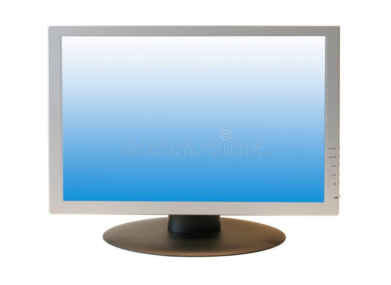 Monitor del LCD de la pantalla ancha fotografía de archivo