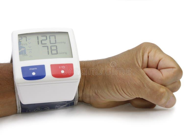 Monitor del presure de la sangre imagen de archivo libre de regalías