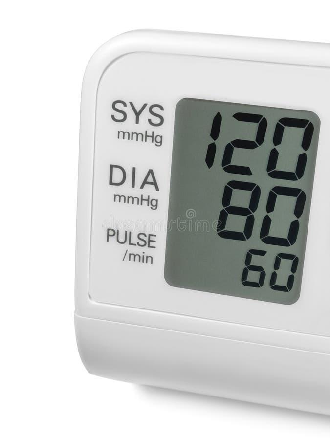 Monitor del tonometer de la muñeca de la presión arterial de Digitaces fotografía de archivo libre de regalías