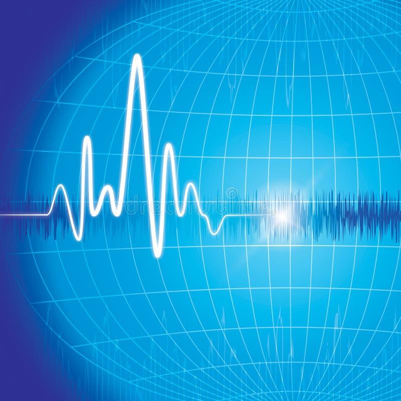 Monitor di cuore royalty illustrazione gratis