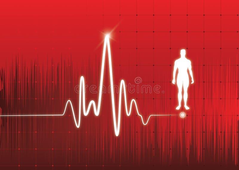 Monitor di cuore illustrazione di stock