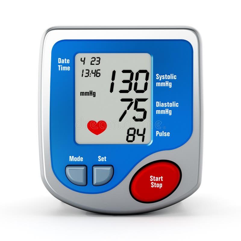 Monitor di pressione sanguigna di Digital illustrazione vettoriale