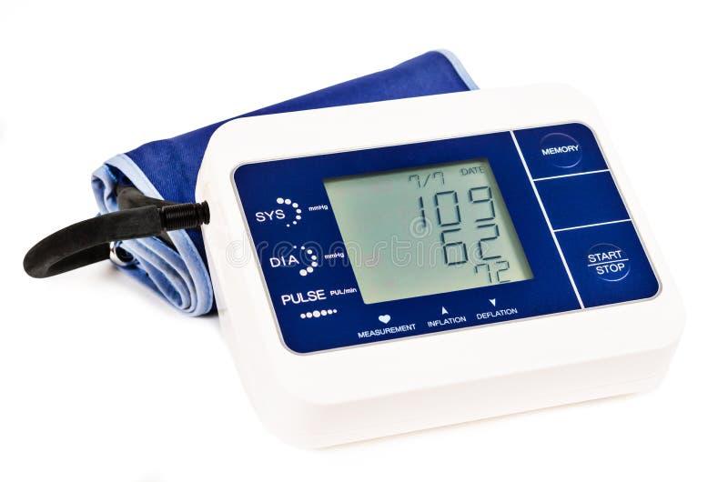 Monitor di pressione sanguigna di Digital fotografia stock libera da diritti