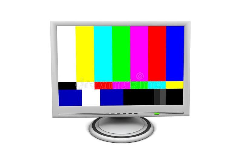Monitor do écran plano do LCD com teste padrão de teste imagem de stock