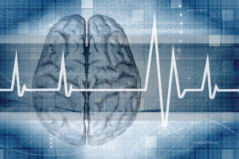 Monitor do cérebro ilustração royalty free