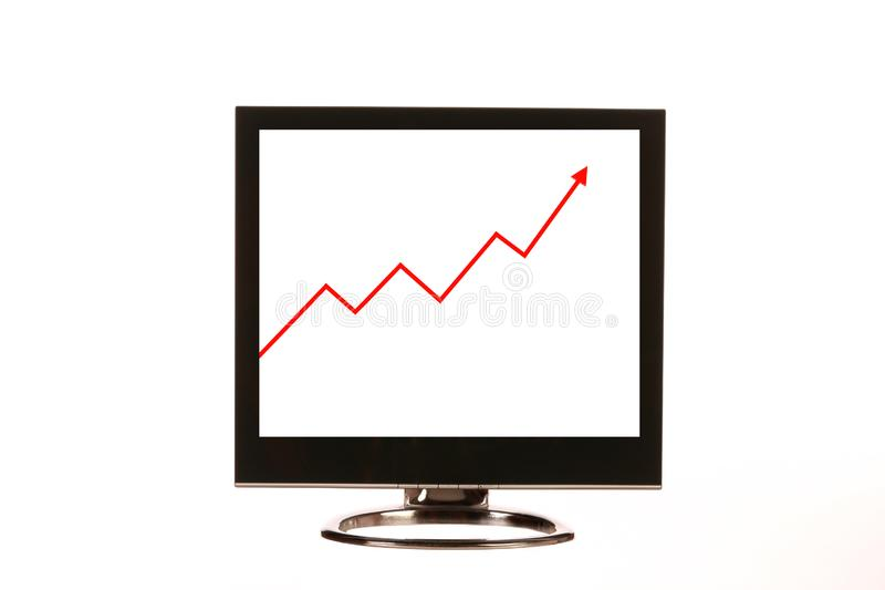 Monitor do computador imagens de stock royalty free