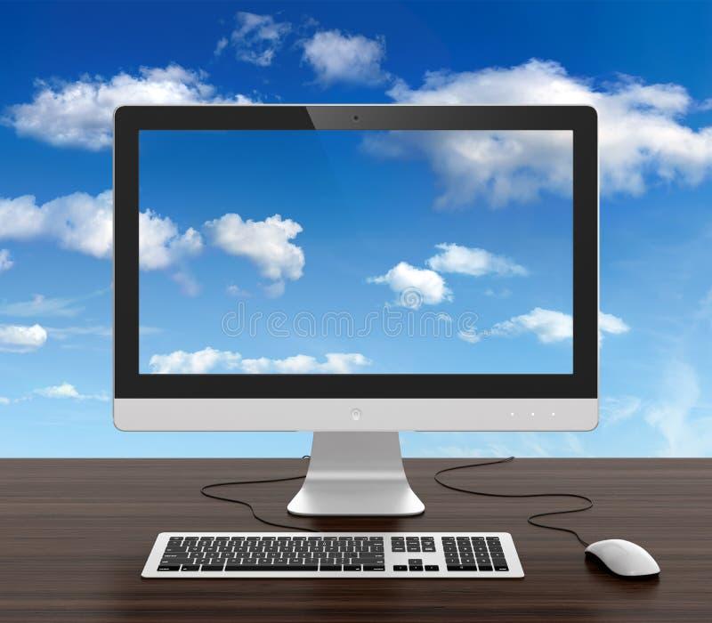 Monitor do computador ilustração royalty free