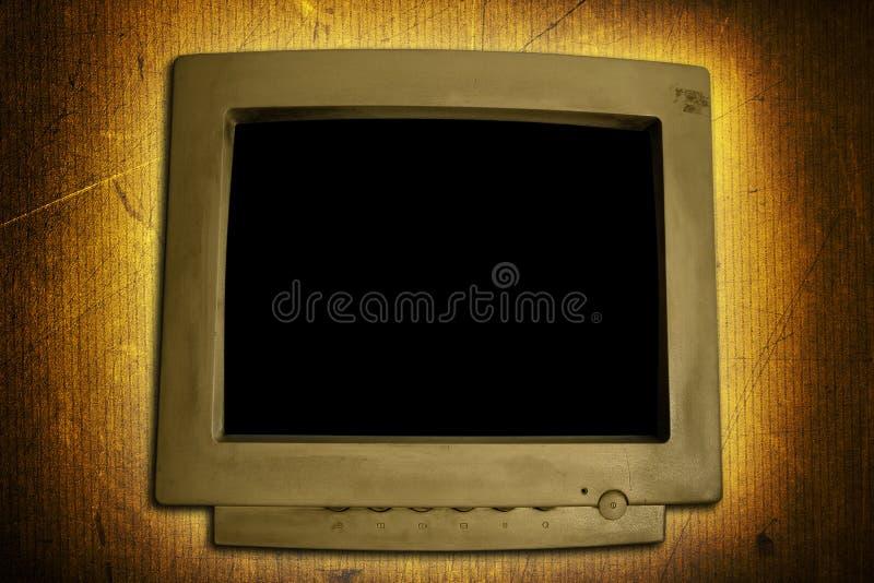 Monitor do computador de Grunge fotografia de stock