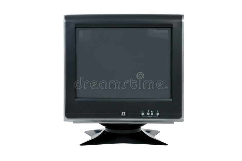 Monitor do computador do CRT foto de stock