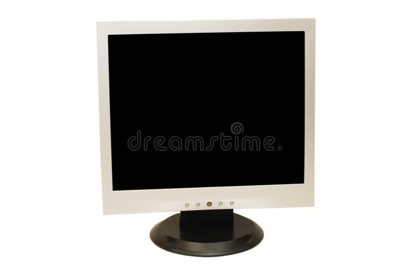 Monitor do computador isolado imagem de stock