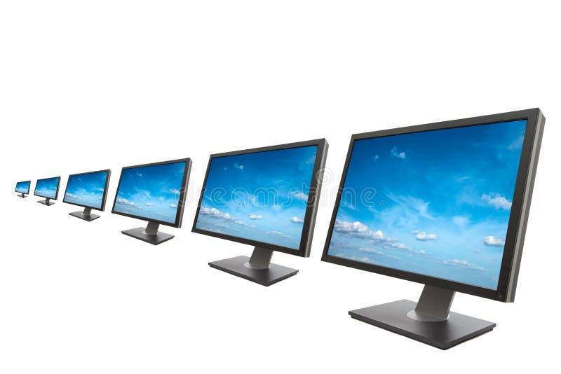 Monitor do computador isolado fotografia de stock