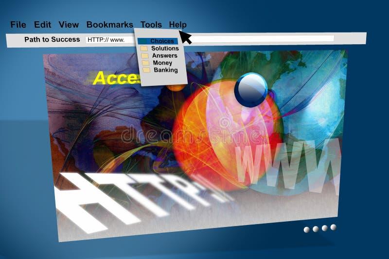 monitor do Internet do HTTP do Web de WWW ilustração royalty free
