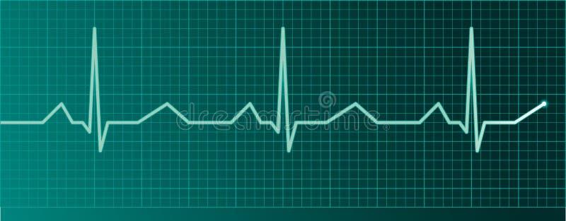 Monitor do pulso do coração ilustração royalty free